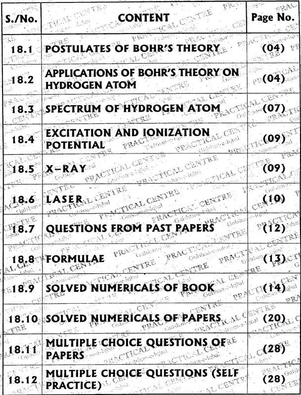 Chapter 18: Atomic Spectra [PhyCity com]